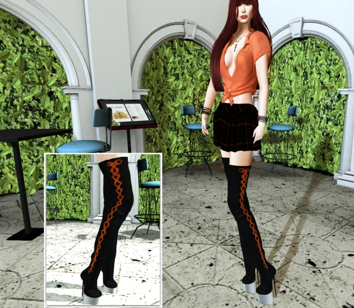d2T skirt and boots