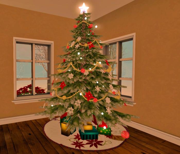 Winter showcase tree